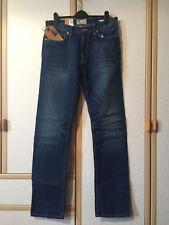 BNWT M&S Mens North Coast Medium Blue Wash Pure Cotton Straight Leg Jeans 32/33