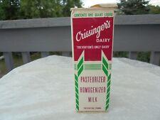 Trevorton Pa Crissinger's Dairy 1 quart Milk carton....................Bottle