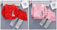 2PCS toddler kids baby girls outfits set top & skirt pants casual lovely