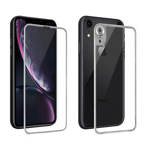 For iPhone 11 XS XR Front &Back Full Coverage Tempered Glass Screen Protector