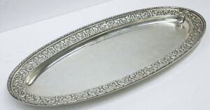 1800's Theodore B. Starr Sterling Silver Fish Serving Plate #9222 No Monogram!!