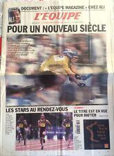 L'Equipe Journal 7/7/2001; Tour de France/ Meeting d'Athlétisme/ Rafter Winbledo