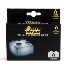 Lumière Stax 6 Pièce Expansion Pack Light-Up Bâtiment Bloc - Blanc