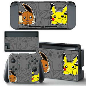 Pokemon Eevee Pikachu VINYL SKIN Screen Protector for Nintendo Switch Joy-Con