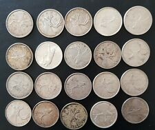 More details for 20 x canada 25 cents silver coins job bulk lot scrap or collect 125g 0.8