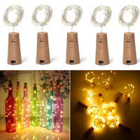 LED Cork 15/20/30/50 Lights String Bottle Stopper, Lamp, Light, Wedding Event Pb