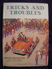 LIVRE CLASSE COURS D'ANGLAIS : TRICKS & TROUBLES – MENTORS 1958 ILLU M. JEANJEAN