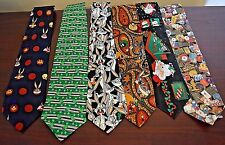 Lot of 6 Men's Craft / Hobby or Wear Ties - Nice Holiday Themed Mix -Take a L@@K