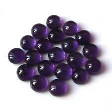 8X8 MM Round Shape Natural Purple African Amethyst Cabochon Calibrated Gemstone