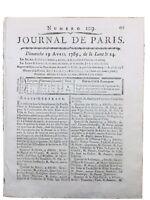 Estados Generales De París 1789 Swamp Saint Germain Moneda Halles Nuestra Señora