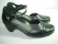 WOMENS BLACK LEATHER DANSKO MARY JANES SANDALS HEELS SHOES SIZE 40 9.5 10 M