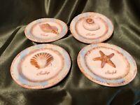 NEW MWW Market Shells Mini Plates Beach Conch, Scallop, Nautilus Starfish