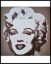 Andy Warhol Marilyn Poster Kunstdruck Bild mit Alu Rahmen in schwarz 71x56cm