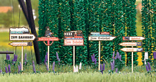 HO 1:87 Busch Wood ( Laser- Cut ) Sign Post Signposts KIT ( German Text ) # 1488