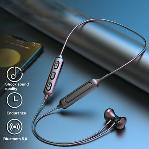 BT-95 Earphone Magnetic Bluetooth 5.0 Hanging Neck In Ear Wireless with Mic UK