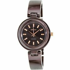 DKNY LADIES CERAMIC ALL BROWN LUXURY CLASSIC WATCH NY8551