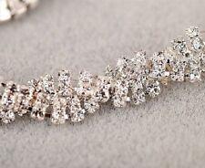 Ladies Silver Gold Diamante Rhinestone Crystal Jewellery Woman Bracelet Bangle