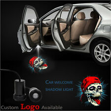 Skull Wear Red Ball-Cap Car Door Welcome Logo Led Laser Projector Shadow Lights