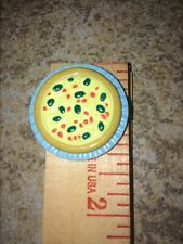 Barbie Bratz Monster High Liv Pizza Blue Plate Snack Food Peppers Olives