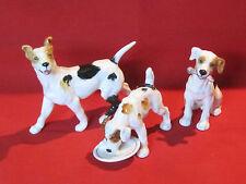 Vintage set of porcelain Harrier or Foxhound hunting dog figurines