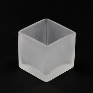 26 Frosted Glass Tealight Votive Decoration Candle Table Wedding Square Cube