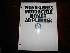 NOS BMW OEM 1985 Motorcycle Dealer AD Planner K-Series K100 RS RT