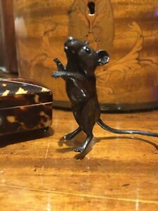 A Naughty Little Solid Bronze Mouse Sculpture  Made In The United Kingdom