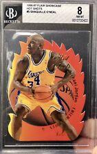 1996-97 FLAIR SHOWCASE Shaquille O'Neal Error MICHAEL JORDAN HOT SHOTS BGS 8