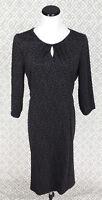 Womens Joan Rivers Leopard Print Gray Shift Dress 3/4 Sleeve Dress Size Large L