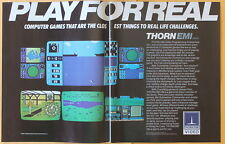 Thorn EMI Coputer Video Games   Magazine Print Ad 1982 Play for Real