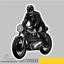 Skeleton on A Vintage Bike Biker Ri Vinyl Sticker Decal Window Car Van Bike 2415