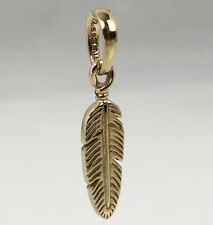 Genuine PANDORA Spiritual Feather Necklace Pendant Charm 14K Gold Vermeil 397216