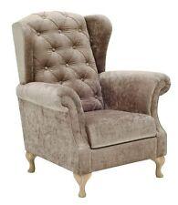 Design Luxus Sessel Lounge Sofa Couch Polster Sitz Stoff Braun SL33 NEU!