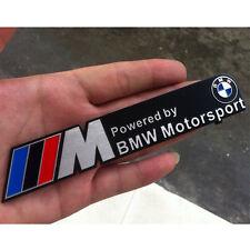 3D BMW Car M Motorsport Logo sticker Badge Adhesive Emblem Side Door Aluminum 3M