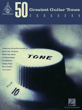 50 Greatest Guitar Tones Songbook Sheet Music Guitar Tablature Book 000691174