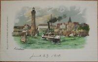 1900 Color Litho Postcard: 'Lindau - Bavaria - Germany'