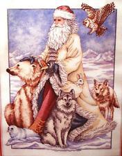ARCTIC SANTA and ANIMALS Christmas/Winter Cross Stitch Kit - Rare - OOP