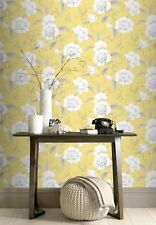 Wallpaper Rasch - Luxury Boutique Floral / Flowers Design - In Yellow - 226164