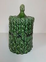 McCoy Pottery Asparagus Vegetable Tied Vintage 1970s Cookie Jar