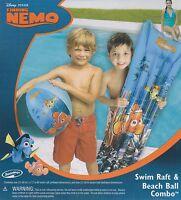 New Disney Finding Nemo Swim Raft & Beach Ball Combo