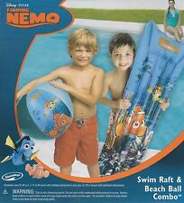 New Disney Finding Nemo Swim Raft & Beach Ball Combo