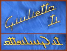 ALFA ROMEO GIULIETTA TI - Hintere goldene Logo Embleme Schriftzug Abzeichen