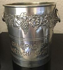 MOET CHANDON CHAMPAGNE COOLER vintage ART DECO  1930S USED RING HANDLE RARE