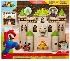 "Nintendo Super Mario Deluxe Bowser's Castle Playset 3 2.5"" Action Figure Xmas UK"