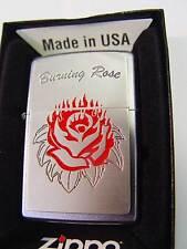 Zippo® Burning Rose for your Love Platte New / Neu OVP