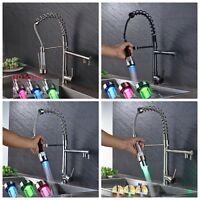 Kitchen Faucet Pull Out Sprayer Swivel Spout Sink Mixer Tap Deck Mount 1 Handle