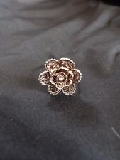 Filigree Silver Wire Flower Ring