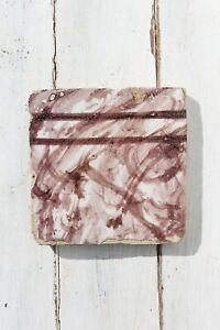 18th Century Antique Portuguese Bordeaux Spongeware Tile