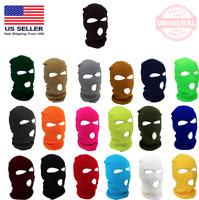 New 3 Hole Full Face Ski Mask Winter Cap Balaclava Hood Beanie Warm Tactical Hat
