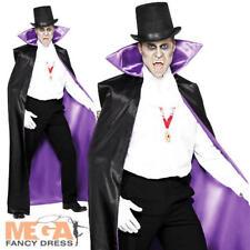 Il Conte Dracula Mantello Reversibile Da Uomo Halloween fantasia Abito Adulti Costume da vampiro